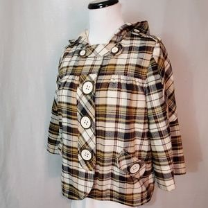7 for all Mankind Plaid Swing Coat